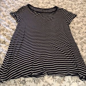 Dresses & Skirts - Navy and white striped T-shirt dress